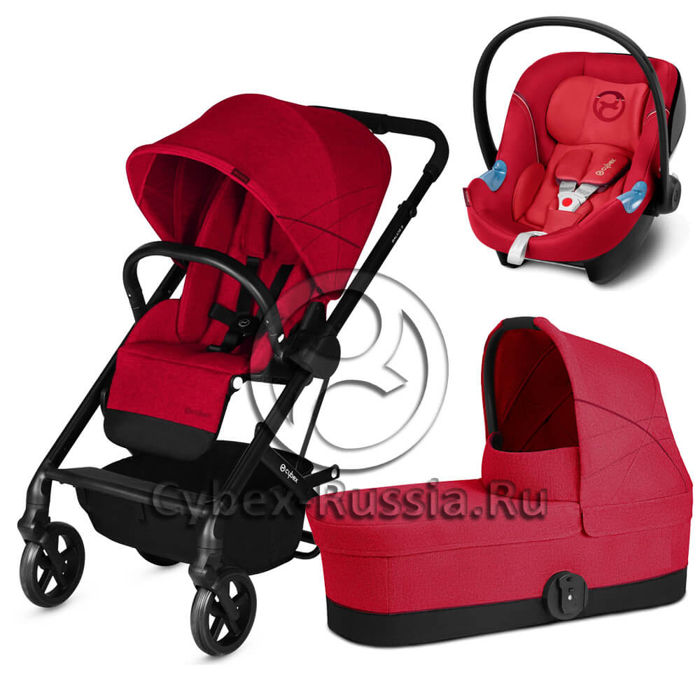 Cybex Balios S (3-в-1) - Aton M i-Size - Rebel Red