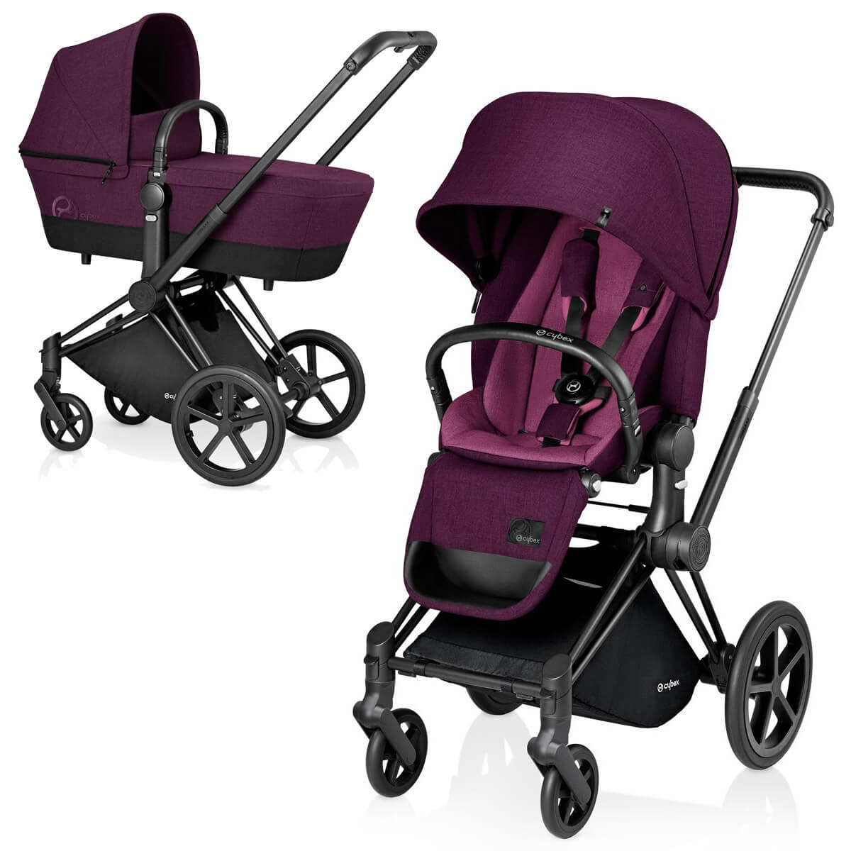 Cybex Priam Lux 2-в-1 Black Frame - Mystic Pink / All Terrain
