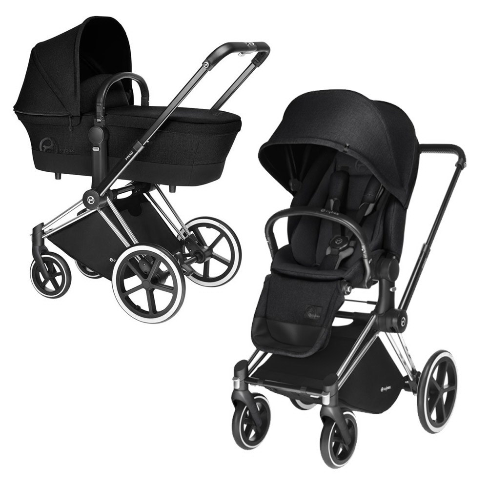 Cybex Priam Lux 2-в-1 Black Frame - Stardust Black / All Terrain