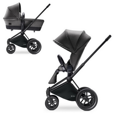 Cybex Priam Lux 2-в-1 Black Frame - Manhattan Grey / All Terrain
