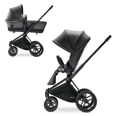 Cybex Priam Lux 2-в-1 Black Frame - Manhattan Grey / Trecking
