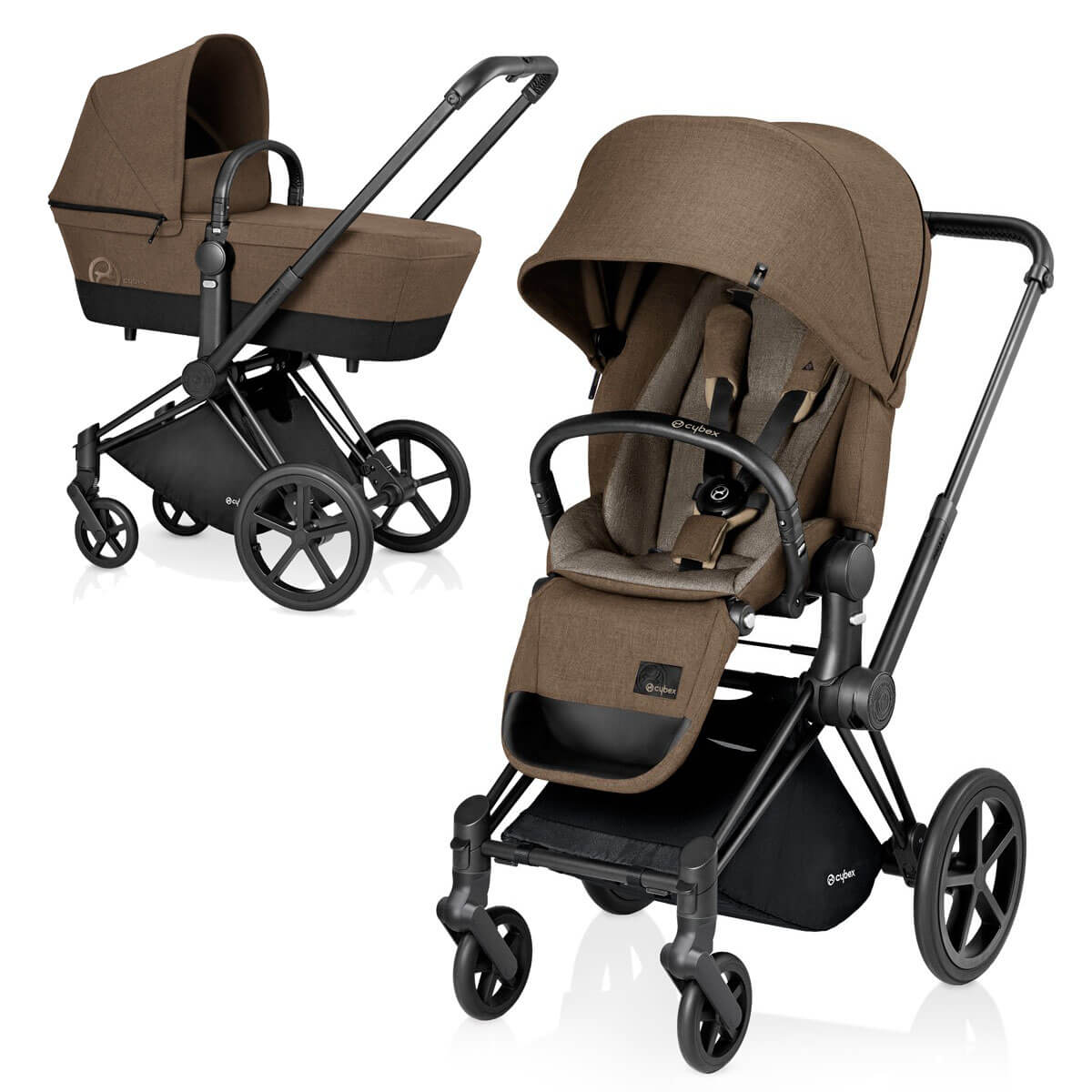 Cybex Priam Lux 2-в-1 Black Frame - Cashmere Beige / All Terrain