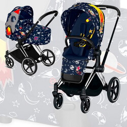 Cybex Priam III Space Rocket by Anna K (2-в-1) - Space Rocket by Anna K - Chrome Black