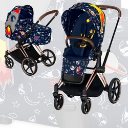 Cybex Priam III Space Rocket by Anna K (2-в-1) - Space Rocket by Anna K - Rose Gold