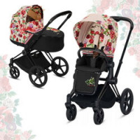 Cybex Priam III Spring Blossom (2-в-1) - Light - Matt Black