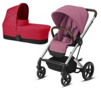 Cybex Balios S Lux (2-в-1) - Silver - Magnolia / Red