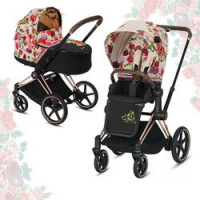 Cybex Priam III Spring Blossom (2-в-1) - Light - Rose Gold