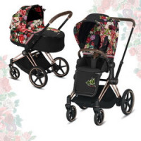 Cybex Priam III Spring Blossom (2-в-1) - Dark - Rose Gold