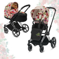 Cybex Priam III Spring Blossom (2-в-1) - Light - Chrome Black