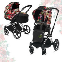 Cybex Priam III Spring Blossom (2-в-1) - Dark - Chrome Black