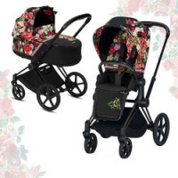 Cybex Priam III Spring Blossom (2-в-1) - Dark - Matt Black