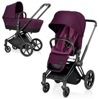 Cybex Priam Lux 2-в-1 Black Frame - Mystic Pink / Trecking